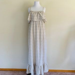 Motherhood Maternity Printed Maxi Boho Dress Sz M